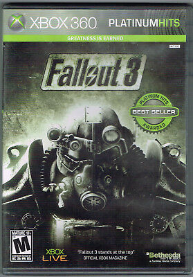 Fallout 3 ~ Platinum Hits (Microsoft Xbox 360, 2008) ~ Used Complete ~