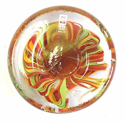 MDINA ART GLASS Colourful Tealight Candle Holder - Boxed  - H29