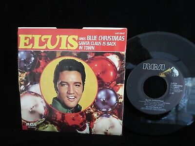 ELVIS PRESLEY, Blue Christmas/Santa Claus Is Back In Town USA Picture Sleeve 45
