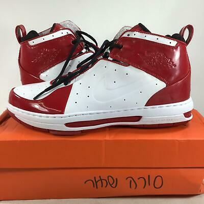 d81b95479b45e0 UNRELEASED SAMPLE Nike Air Jordan White- Red Patent Leather385620161 Size  9