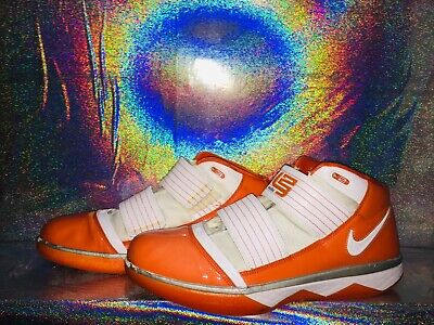 fb20482bb9ded NIKE ZOOM SOLDIER III 3 TB WHITE TEAM ORANGE 367183-119 LEBRON US size 15