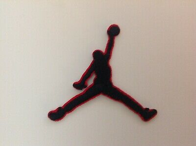 "2"" NIKE BLACK CLASSIC JUMPMAN LOGO Embroidered Iron On/Sew On Patch USA SELLER"