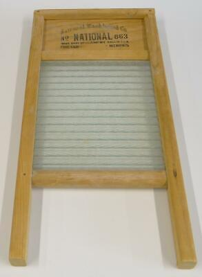 "National Washboard Co. No. 863 Ribbed The Glass King Lingerie 18"" X 8.5"""