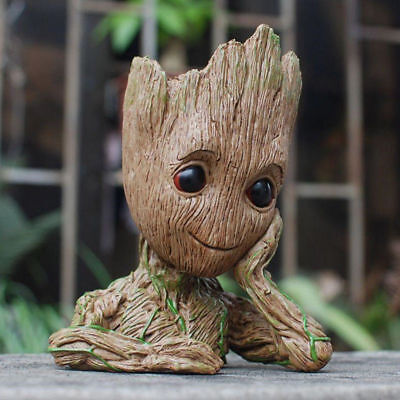 16CM Guardians of The Galaxy Baby Groot Figure Flowerpot Style Pen Pot Toy Gifts