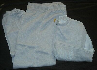 Vintage 1980s Womens Jogging Sweatpants Sweat Shirt Outfit Size Large NWT