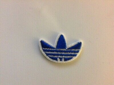 "1"" ADIDAS CLASSIC BLUE LOGO Embroidered Iron On/Sew On Patch USA SELLER"