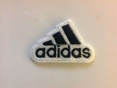 "2"" ADIDAS CLASSIC WHITE/BLACK LOGO Embroidered Iron On/Sew On Patch USA SELLER"