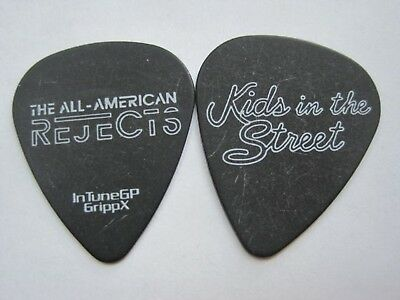 All American Rejects guitar pick white on black pick - Kids on the Street
