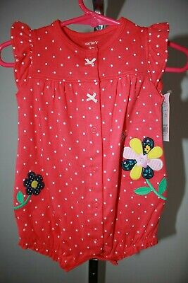 77fe51325 NWT CARTERS BABY girl Butterfly Snap-up Romper Size 6 Months - $7.99 ...