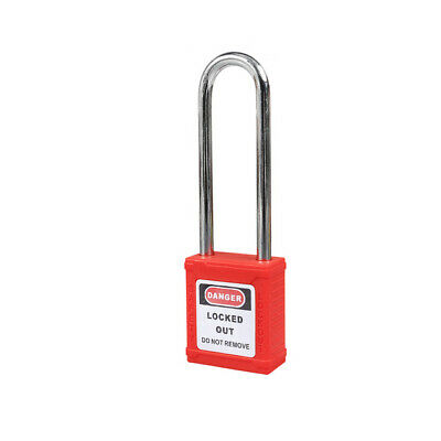 Lockout Safety Padlock, 3.0 in. Shackle, Red