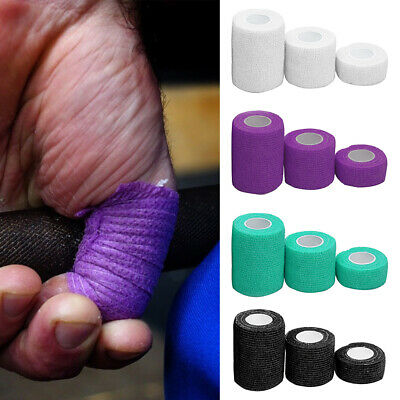 AU 3 Rolls Cohesive Thumb Finger Sports Tape Athletic Weightlifting Bandage Care