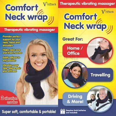 Comfort Neck Wrap with Vibration Therapy Scarf Travel Battery Operated