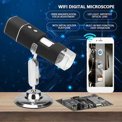 Microscopio Digitale Elettronico WiFi HD 2MP 1000X 8 LED Per Telefono Cellulare