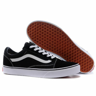VAN Old Skool Skate Shoes Black/White All Size Classic Canvas Sneakers UK3-UK9.5