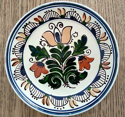 Pottery Romania Hanging Plate Clay Art Glaze Vintage Hand Made Handpainted Gift