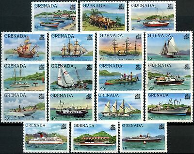 Grenada 1980-4 SG#1081A-1099A Shipping Definitives MH 1/2c - $5(25c Used)#D87899