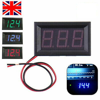 DC 12V~24V Car Voltage Volt Meter Motorcycle LED Digital Display Panel Voltmeter