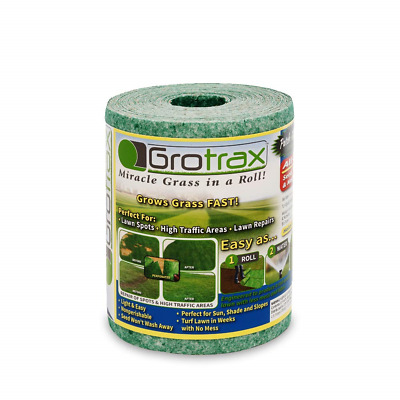 Grotrax   Patch N Repair   Year-Round Green Grass Seed Mixture Mat Roll   Great