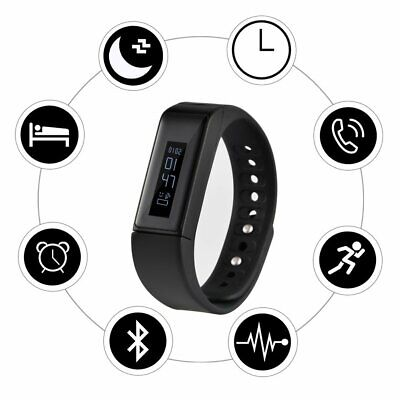 LESHP Unisex OLED Fitness Tracker Intelligentes Armband Global Version Schwarz