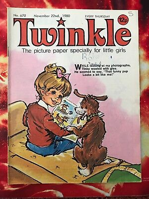 Twinkle  Comic No. 670. 22 Nov 1980. Includes Dress Twinkle Page (See Photo) Vfn