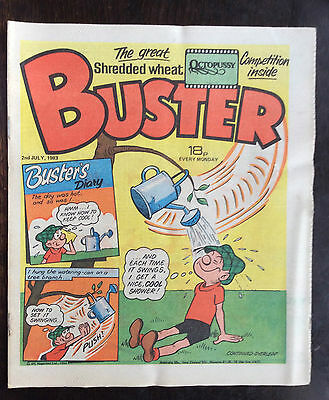 Buster Comic 2 July 1983 Vfn+. Unread/unsold Newsagents Stock. Excellent (1