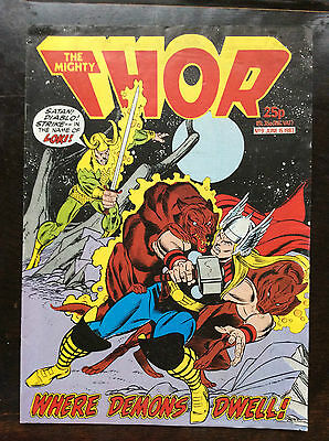 The Mighty Thor Comic No.9.  15 June 1983. Unread/Unsold Uk Marvel. Lovely Cond'