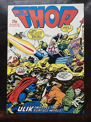 The Mighty Thor Comic. No 15. 27 July 1983. Nr Mint. Unread. Uk Marvel Comic.