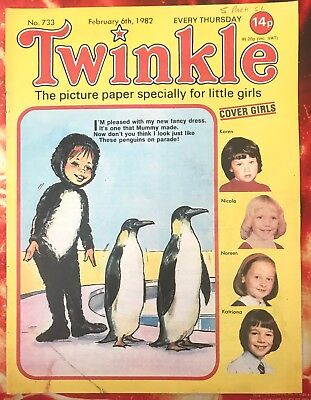 Twinkle  Comic No. 733. 6 February 1982. Puzzles Not Done. Vfn