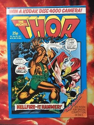 The Mighty Thor Comic No 14. 20 July 1983. Nr Mint. Uk Marvel. Unread Unsold.