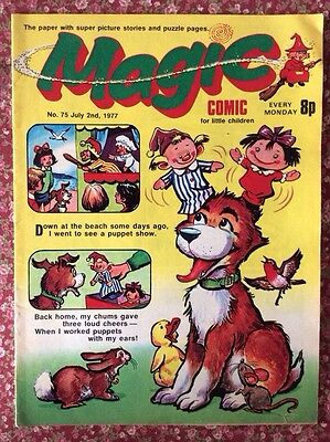MAGIC COMIC NO.75. 2 JULY 1977 With KORKY THE CAT'S NEPHEW COPYCAT. VFN.