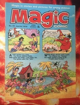 Magic Comic. No 23 3 July 1976. Vfn Dorothy & The Wizard Of Oz. Puzzles Not Done