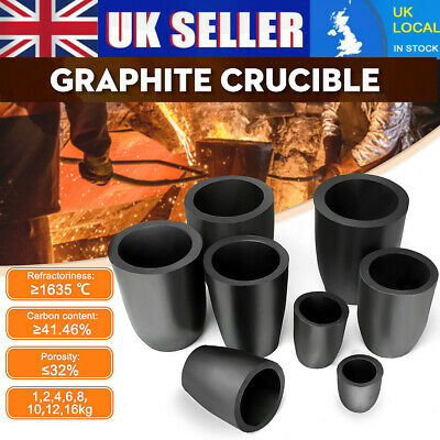 Graphite Furnace Casting Foundry Crucible High Heat & Fast Melting Tool 1-16