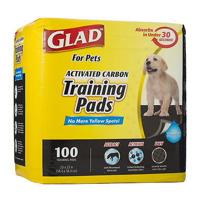 Glad for Pets Activated Carbon Dog Pee Pads | Puppy Training Pads For Absorbing