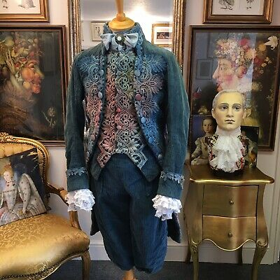 Stunning Men's 18th Century Theatrical Style Suit, Film Quality Made By Jane Law