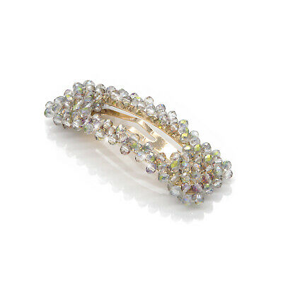 Women's Slide Snap Hair Clips Barrette Grips Hairpin Crystal Pins Accessories SH