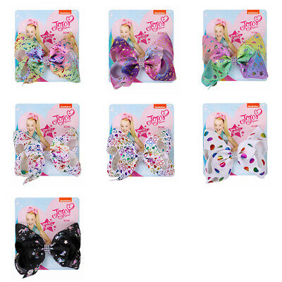 JOJO Rainbows Hair Bows Accessories Hairgrips Kids Ribbon Hair Clips For Girls