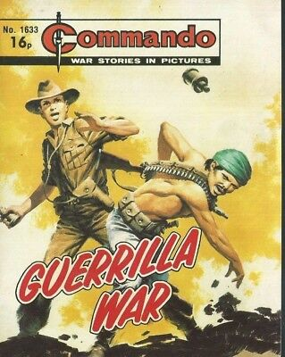 Guerrilla War,commando War Stories In Pictures,no.1633,war Comic,1982