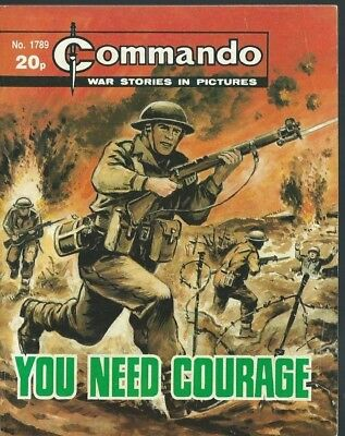 You Need Courage,commando War Stories In Pictures,no.1789,war Comic,1984