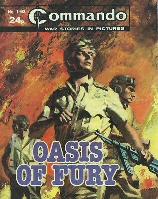 Oasis Of Fury,commando War Stories In Pictures,no.1963,war Comic,1986