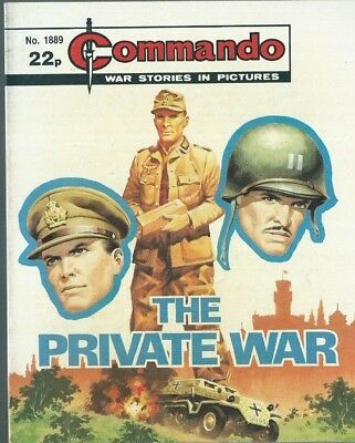 The Private War,commando War Stories In Pictures,no.1889,war Comic,1985
