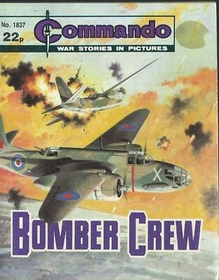 Bomber Crew,commando War Stories In Pictures,no.1837,war Comic,1984