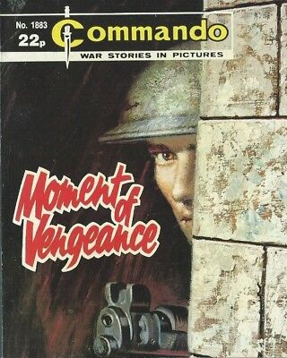Moment Of Vengeance,commando War Stories In Pictures,no.1883,war Comic,1985