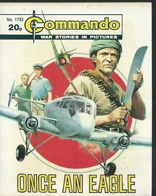 Once An Eagle,commando War Stories In Pictures,no.1793,war Comic,1984