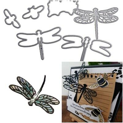 3D Dragonfly Punching And Stamps Metal Cutting Dies For Scrapbooking Greetings