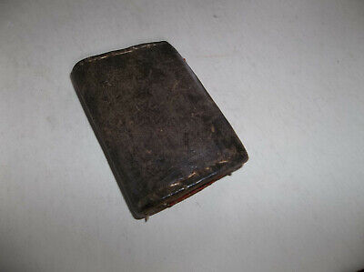 Antique Leather Sewing Needle Case