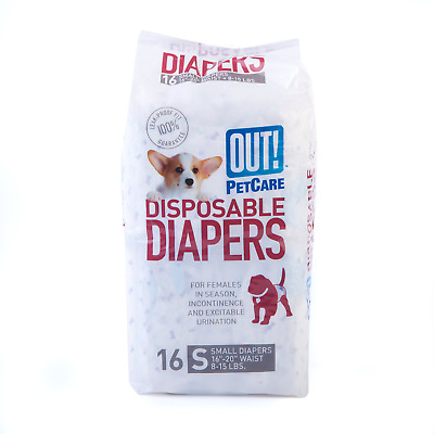 OUT! Disposable Female Dog Diapers | Ultra-Absorbent, Leak-Proof Disposable Dog