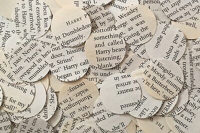 1000 Paper Tea Party Table Confetti Circles - Recycled/Vintage - 68 Book Choices