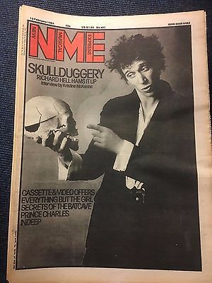 NME magazine 12-02-1983 INDEEP SPECIMEN EVERYTHING BUT THE GIRL RICHARD HELL