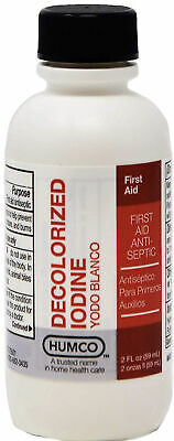 Humco Iodide Tincture Decolorized Antiseptic, 2 fl oz Each First Aid Pack 1,2,3