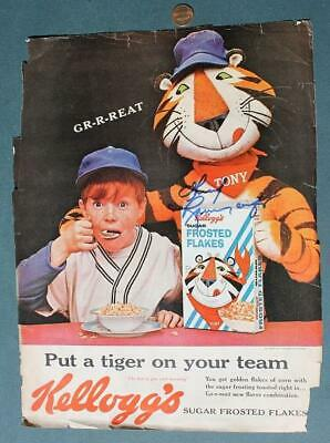 Disney & Tony the Tiger Thurl Ravenscroft signed autographed Frosted Flakes ad!*